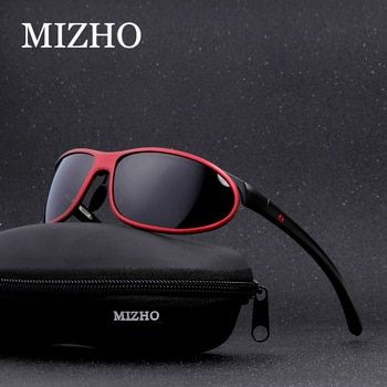MIZHO Anti-glare Clear Drivers Car Snow Sunglass Female Polaroid UV400 Night Ladies Sunglasses Men Polarized Aluminium Wrap