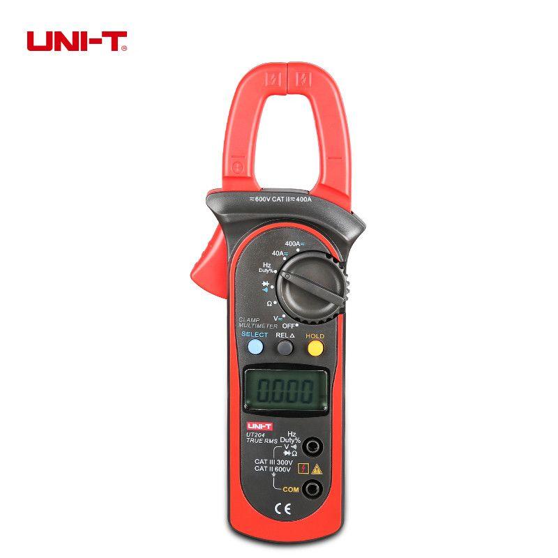 UNI-T UT204 True RMS Auto Range Digital Clamp Meters AC/DC Voltage Current Resistance Frequency Multimeter
