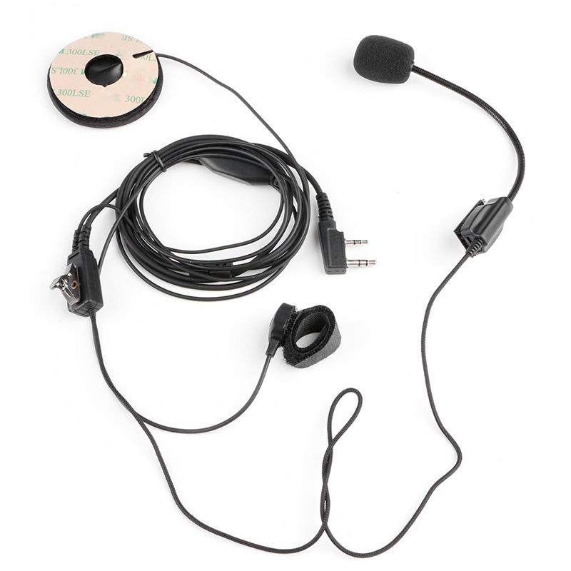 1Pc 2Pin Helmet Motorcycle Race Headset Microphone For Kenwood Baofeng Two Way Radio