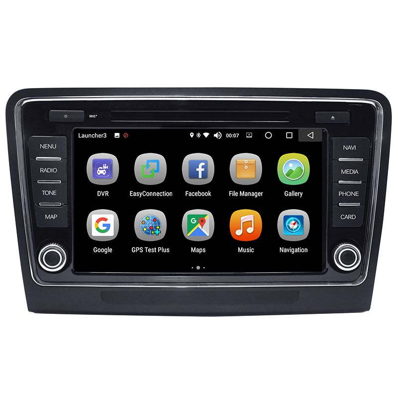 Android 8.0 Auto DVD-multimedia-Player 4 GB/32 GB 2 Din Bluetooth WiFi Auto Radio Stereo GPS Navigation für skoda superb 2009-2013
