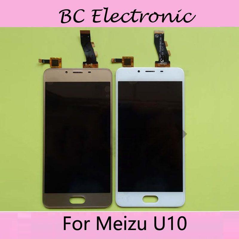Weiß Schwarz Gold farbe Für Meizu Meilan U10 Touchscreen Digitizer + LCD Display Für Meizu U10 U 10 5,0 zoll Cellphon