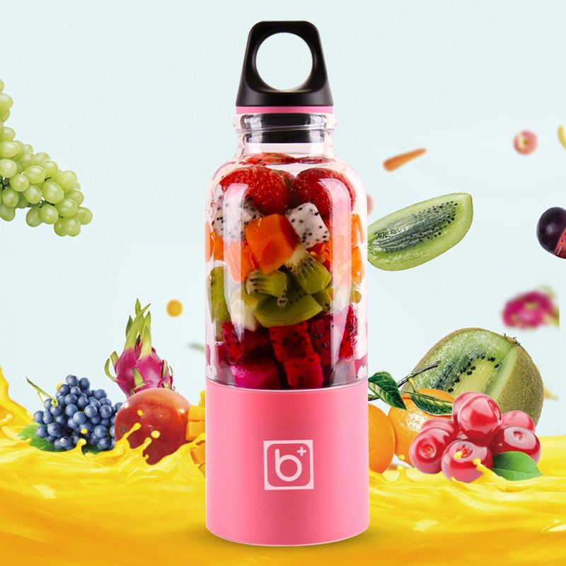 500ml Electric Juicer Cup USB Rechargeable Juicer Juice Blender Maker Shaker Orange Citrus Lemon Fruit Juicer Kitchen Tools