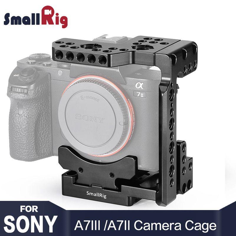 SmallRig Quick Release DSLR Kamera Käfig Mit Arca Stil Schnell Platte Halb Käfig für Sony A7R III/A7 III /A7 II/A7R II/A7S II 2238