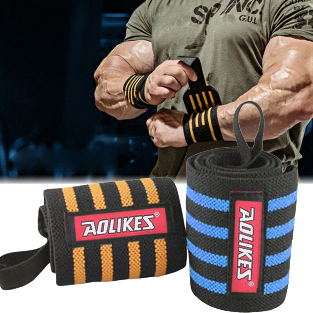 Aolikes Wrist Band Men Adjustable Wristband Brace Wrap Bandage Gym Strap Wrist Support Band For Weight Lifting Exercise