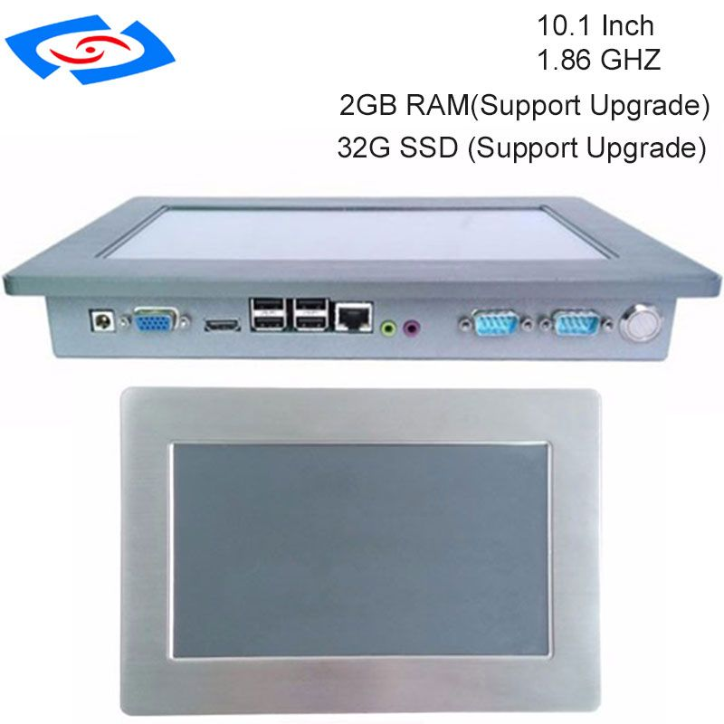 Newest 10.1 Inch High Brightness Embedded IP65 Industrial Touch Screen Panel PC For ATM & Advertising Machines & POS System