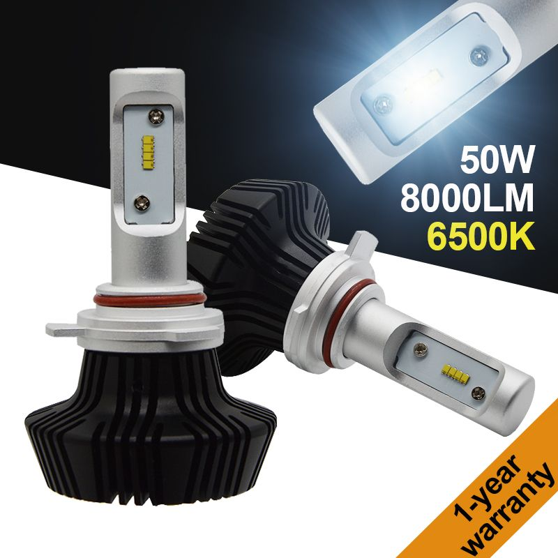 Yeslight H1 H3 H4 H7 H11 9005 HB3 9012 9006 HB4 LED Phare Kit Auto LUXEON ZES LUMILED ÉBRÈCHE 7th fanless 6500 k 50 w 8000LM G7