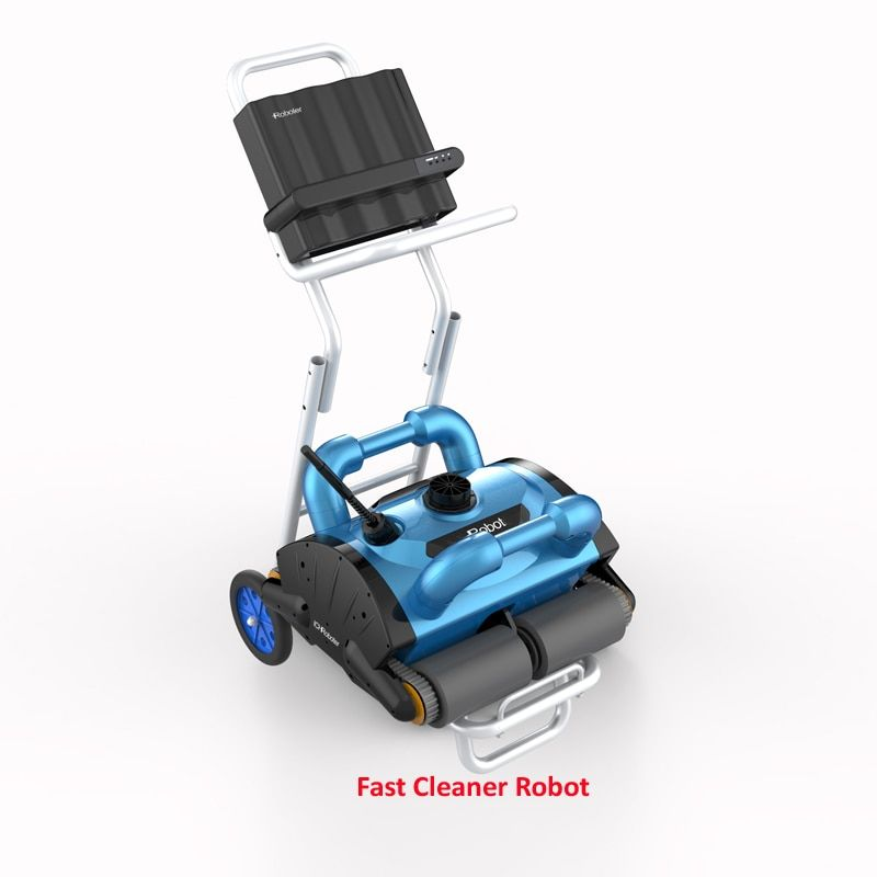 New Swimming Pool Cleaner Robot, Robot Pool Cleaner Updated Model ICleaner 200 With Wall Climbing,Remote Control,Caddy Cart