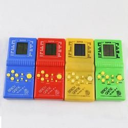 Classic Handheld Game Machine Tetris Brick Game Kids Game Machine with Game Music Playback without Battery