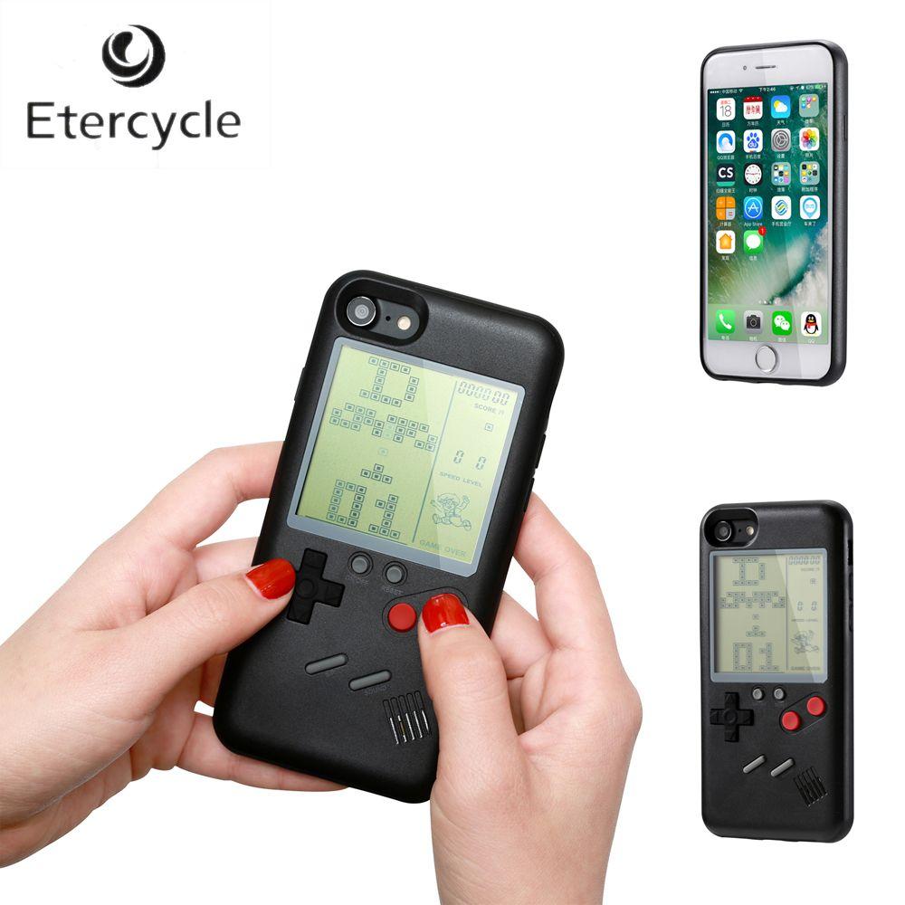Ninetendo Rétro Game Boy Tetris Téléphone Cas Pour iPhone 6 6 s 7 8 6 Plus 6 s Plus 7 Plus 8 Plus iPhone X