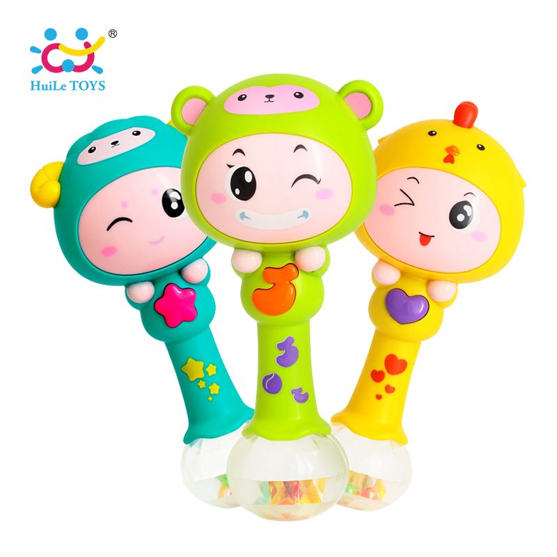 HUILE TOYS 3101 Baby Shaker Sand Hammer Toy Dynamic Rhythm Stick Baby Rattles Kids Musical Party Favor Musical <font><b>Instrument</b></font> Toys