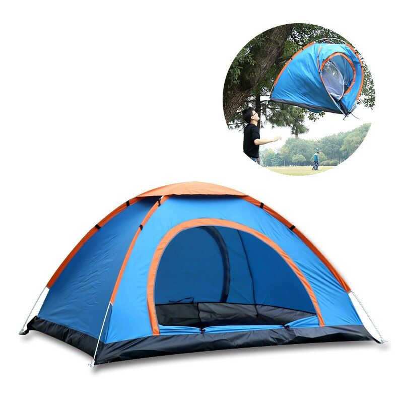 3-4 people Quick Automatic Open Seaside Beach Sunshade Outdoor Double Person Travel Picnic Camping Fishing Sunscreen Tent Awning