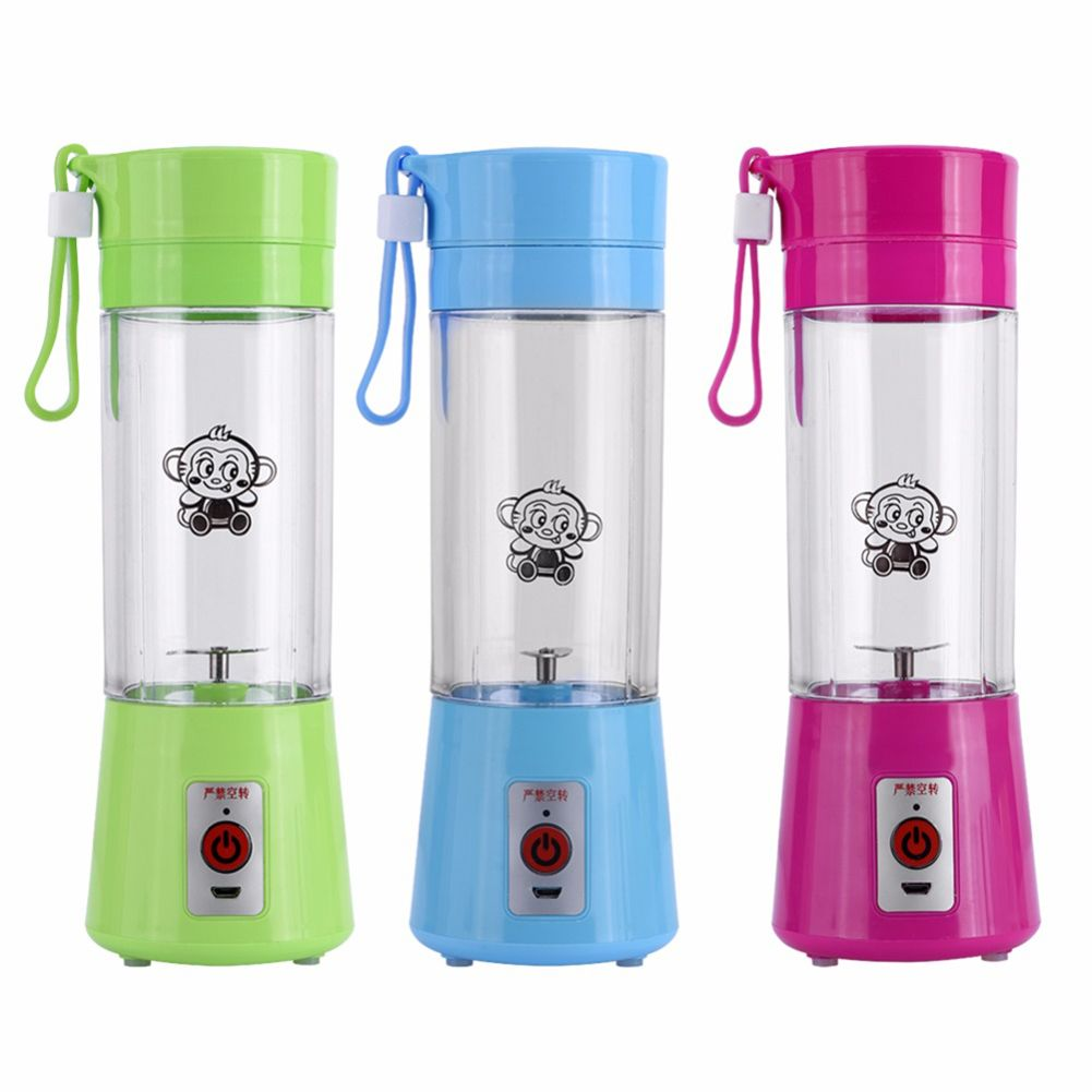 500ml USB Rechargeable Juicer Bottle Juice Citrus Blender Lemon Vegetables Fruit Milkshake Smoothie Squeezers Reamers Bott