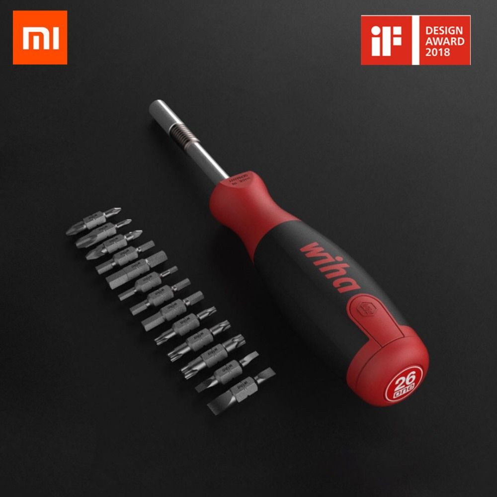 Original Xiaomi MI Mijia Wiha Daily Use Screw driver Kit 26-in-1 Precision Magnetic Bits with Hidden Magazine Magic Kits Box