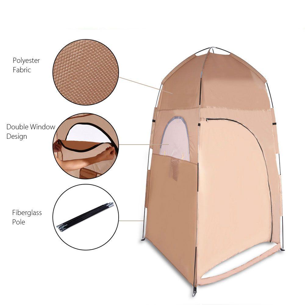Tragbare Toilette Zelt Faltbare Dusche Zelt Strand Dusche Outdoor Camping Umkleideraum Pop Up Privatsphäre Zelt mit Tragetasche