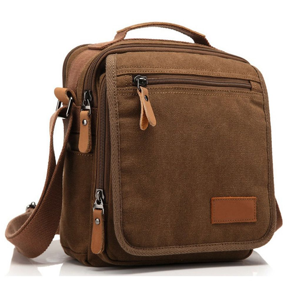 Men's Canvas Bag Vintage Messenger Bag Brand Business Handbags Casual Travel Shoulder Bag Men Crossbody Bags Male Bolsa HQB1790