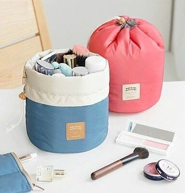 Multifunctional bucket women make up bags Waterproof qualited cosmetic case toiletry bag travel bags suitcase for ladies 2 color