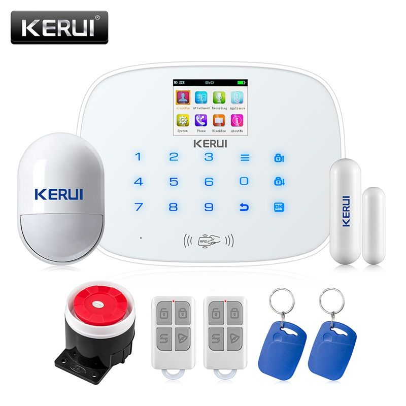 KERUI G19 GSM RFID Disalarm Smart Socket Infrared Security Motion Movement Wired Siren Sensor Detector Home Smart Alarm System