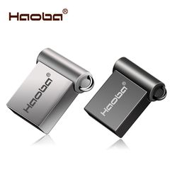 Fashion Super Mini Logam USB Flash Drive 4GB 8 Gb 16GB Pen Drive 32GB 64GB USB 2.0 Flash Stick Flashdisk Gratis Pengiriman CLE USB