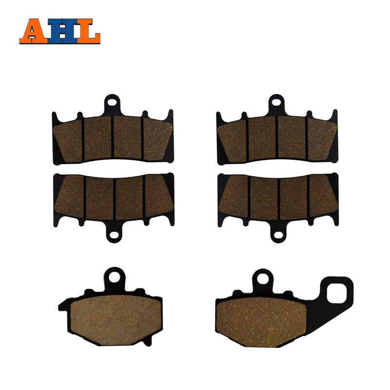 AHL Motorcycle Front and Rear Brake Pads for For KAWASAKI ZX 6R (G/J) ZX-9R ZX 600 ZZR 600 ZX-9R B3/B4 Ninja ZX 900 C/E/F