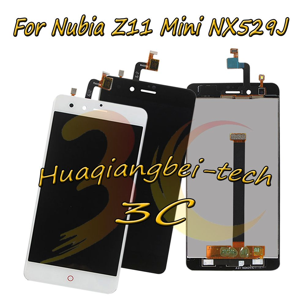 5.0'' New For ZTE <font><b>Nubia</b></font> Z11 Mini NX529J Full LCD DIsplay + Touch Screen Digitizer Assembly Black / White 100% Tested + Tracking