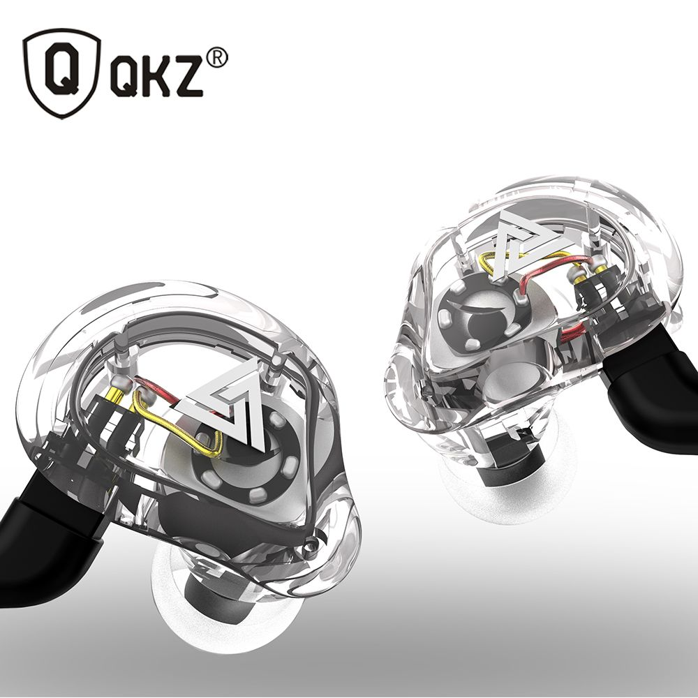 Oeiginal QKZ VK1 4 Dynamic Hybrid In Ear Earphone HIFI DJ Monito <font><b>Running</b></font> Sport Earphone 5 Drive Unit Headset Earbud ZS6 ZS10