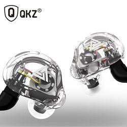 Oeiginal Qkz VK1 4 Dinamis Hybrid Di Telinga Earphone HiFi DJ Monito Olahraga Lari Earphone 5 Drive Unit Headset Earbud ZS6 ZS10