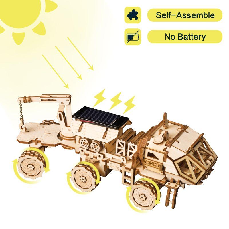 Robotime créatif bricolage 3D découverte Rover mobile énergie solaire alimenté modèle Kits de construction jouet cadeau pour enfant adulte LS504