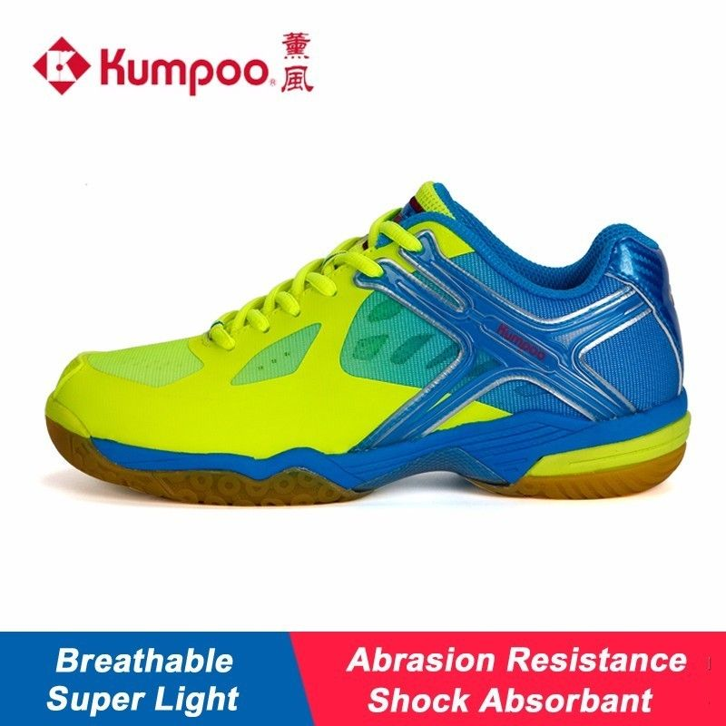 Kumpoo Badminton Shoes Cushioning Antiskid Breathable Balance Unisex for Men and Women Lightweight Sneakers KH-169 L792