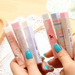 1PCS New Creative Stationery Supplies Kawaii Cartoon Pencil Erasers for Office School Kids Prize Writing Drawing Student Gift