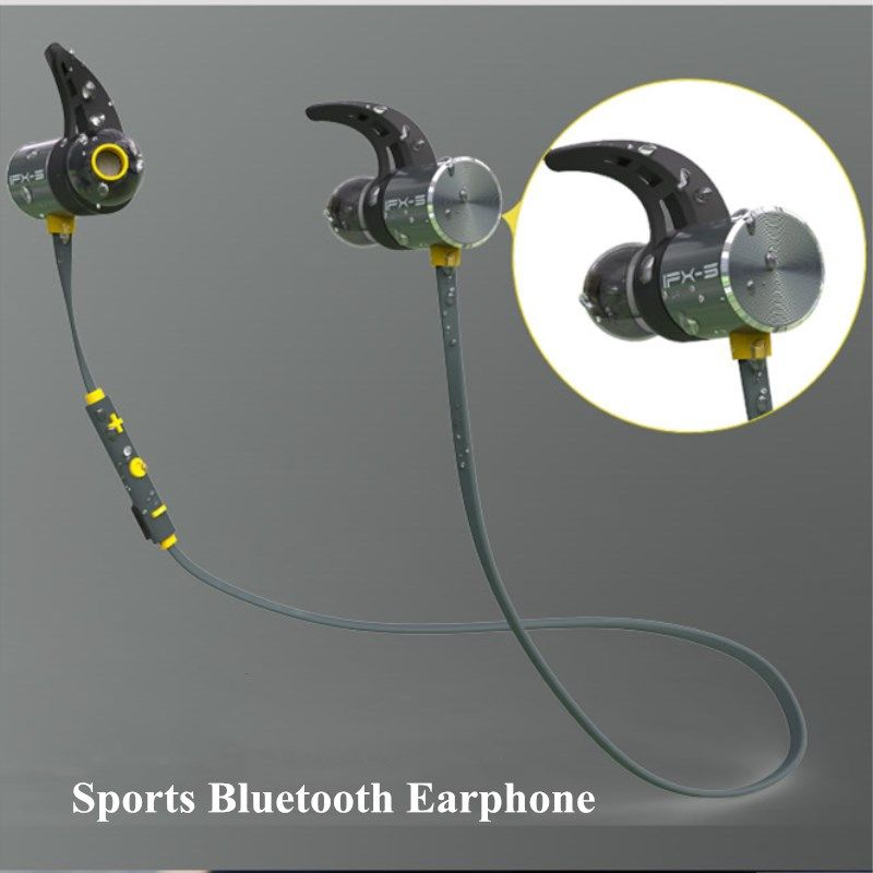 Plextone BX343 Bluetooth 4.1 Headset IPX5 Waterproof Stereo Magnet Earbuds HD Mic Earphone For Phones Wireless Headphone
