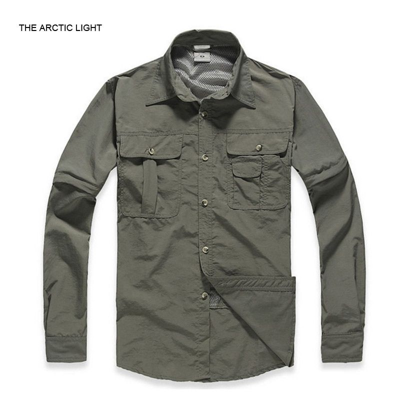 THE ARCTIC LIGHT Spring&Autumn Man Fishing Hiking outdoor Fast-dry Shirt Breathable&Anti UV Male Quick-dry Shirt