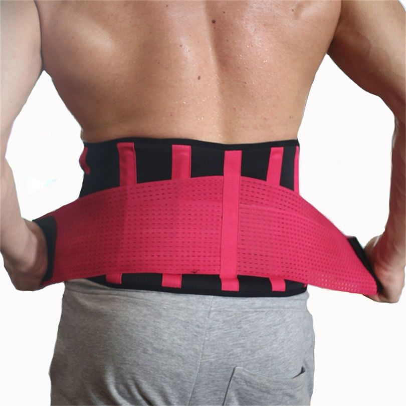 Unisex High Elastic Ajustable Waist Support Brace Fitness Gym Lumbar Back Waist Supporter Protect For Sports Safety Belt