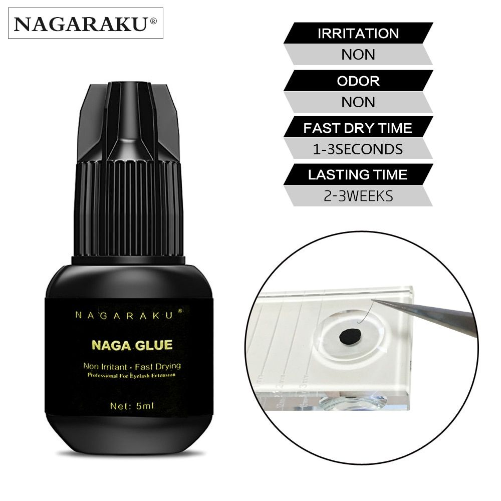 NAGARAKU 5ml Fast dry no odor no simulation lash glue eyelash glue eyelash extension glue individual eyelash glue
