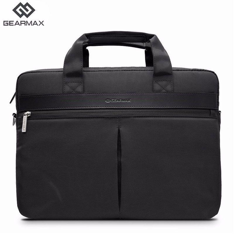 Gearmax 15.6 inch Multi-use Handbag Waterproof Laptop Bag For Macbook Air/Pro 15 Notebook Shoulder Messenger Bags Men Black/Gray