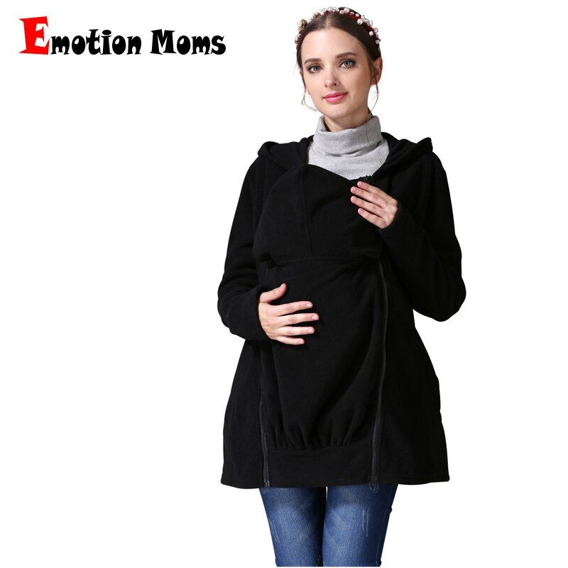Emotion Moms Winter Breastfeeding Nursing tops Multi Function Maternity Coat Kangaroo coat for Pregnant Jacket Maternity Clothes
