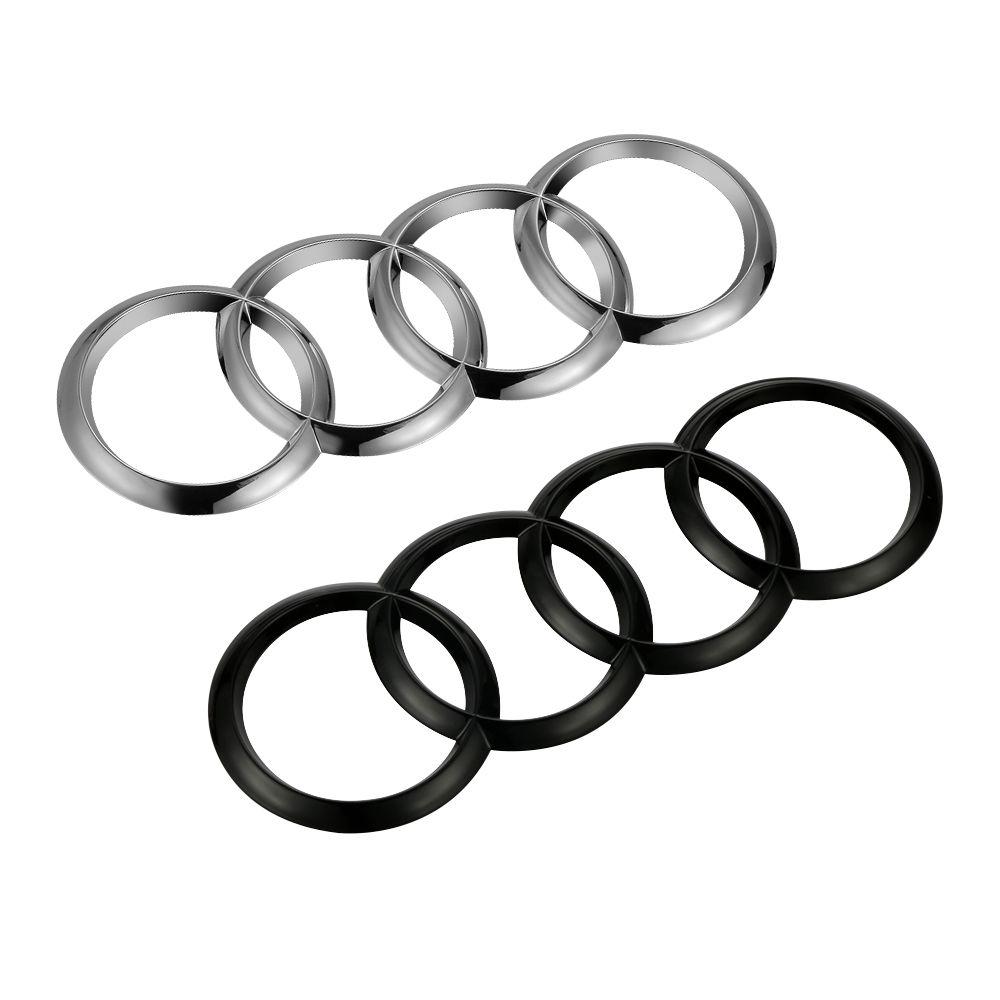 Audi Rear Trunk Boot luggage 19x6.7cm Audi Badge Emblem Sticker Audi A4 S4 B6 B7 A3 RS4 2002- Car Styling Accessories