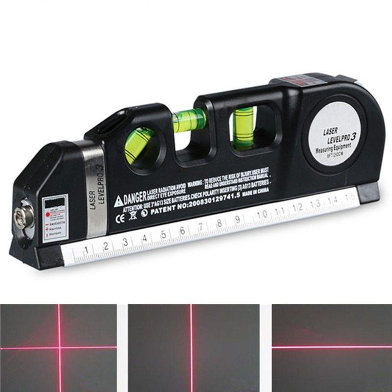 FJS 4 en 1 Infrarouge Niveau Laser Croix Ligne Laser Bande 2.5 M Mesure Polyvalent D'outils À Main