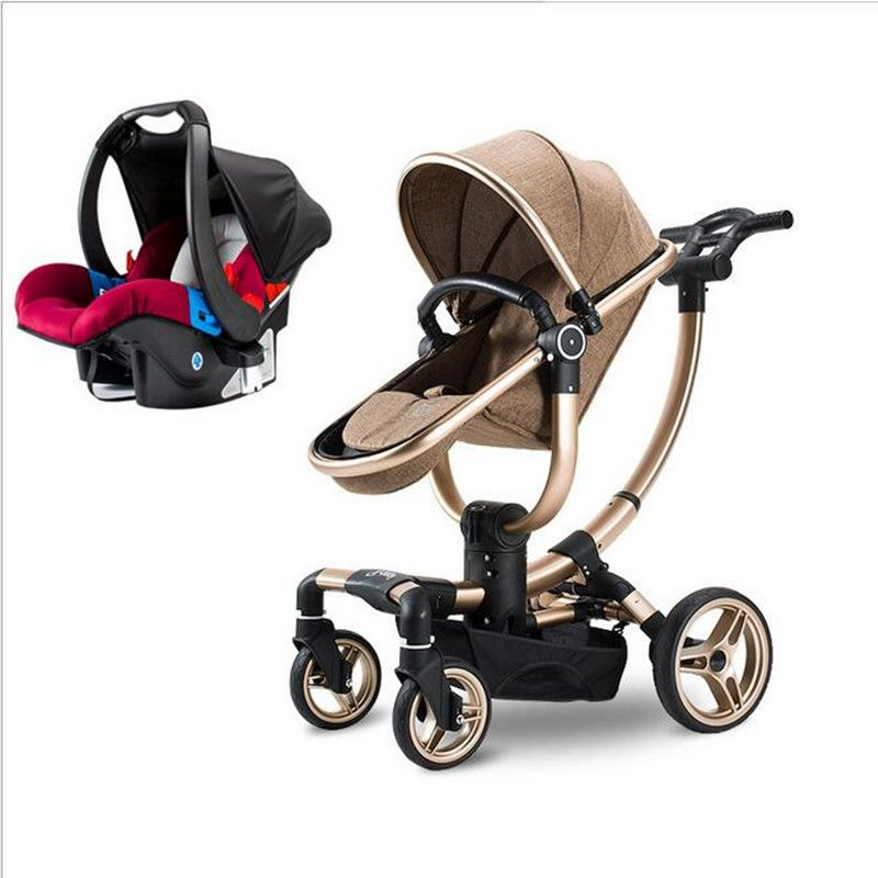 baby stroller Multifunctional 2017 new luxury baby trolley 3 in 1 baby strollers light car sleeping basket