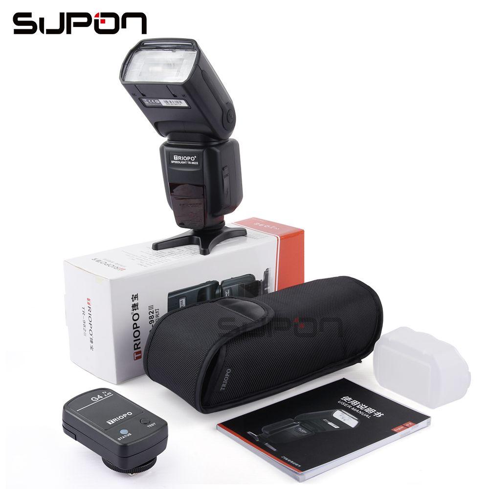 TRIOPO TR-982C III On-Camera Flash Speedlite LCD e-TTL 2.4G Wireless + TX for Canon 7D Mark II 5DIII 6D 70D 60D 100D 700D 1000D