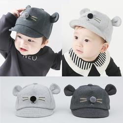 Cartoon Cat Design Baby Hat Baseball Cap Cute Cotton Baby Boys Girls Summer Sun Hat Spring Autumn Peaked Cap