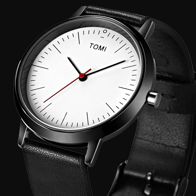 New Top Brand TOMI Men's Watches Sports Quartz Leather strap Casual Watch Women Wristwatch <font><b>Ultra</b></font> Thin Dial Luxury Watches Men