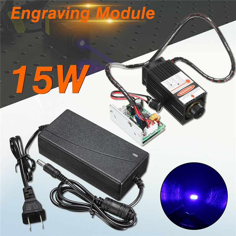 New 15W Laser Head Engraving Module High Power 15000mw Blue Color Laser Head DIY Metal Engraving 450nm Lasers Engraving Machine