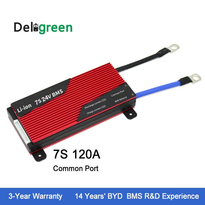 Deligreen 7S 120A 24V PCM/PCB/BMS for Li-PO LiNCM battery pack 18650 Lithion Ion Battery Pack