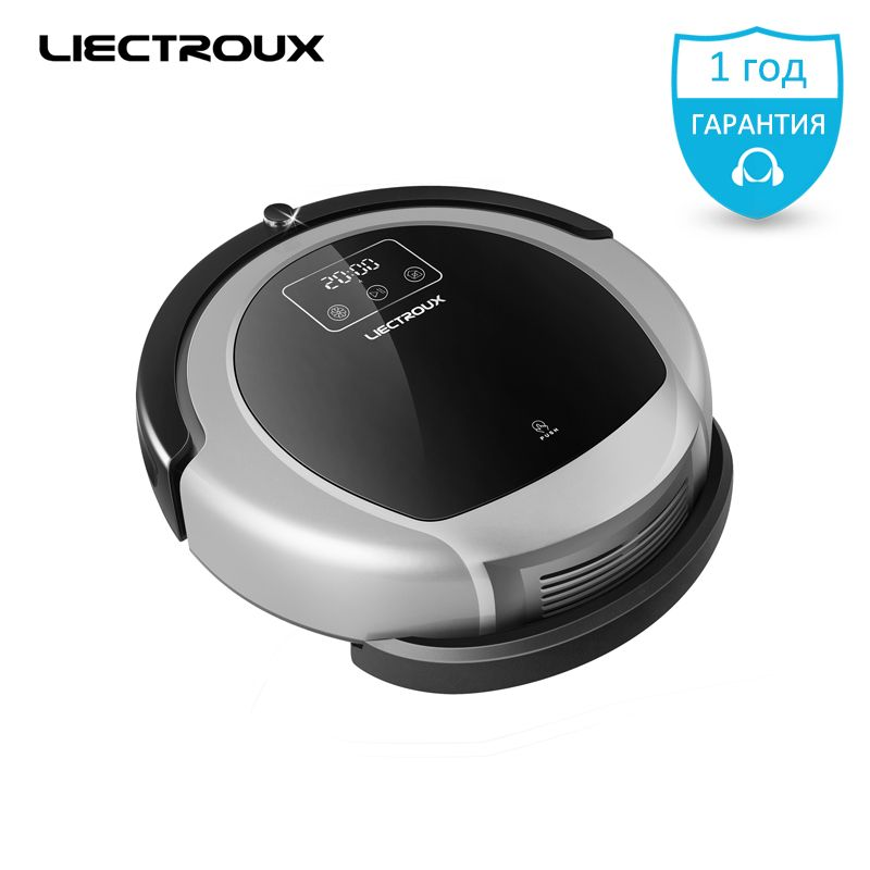 2018 new LIECTROUX Robot Vacuum Cleaner B6009,Map & Gyroscope,Memory ,remote, shcedule,Virtual Blocker UV Lamp,wet ,Navigation,