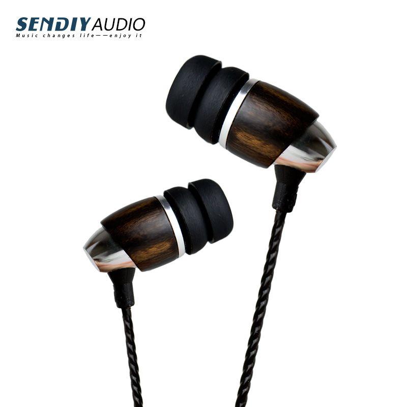 Sendiy M2 Hi-End Blackwood Hi-Res HIFI In Ear Earphone Earbuds with dynamic sound