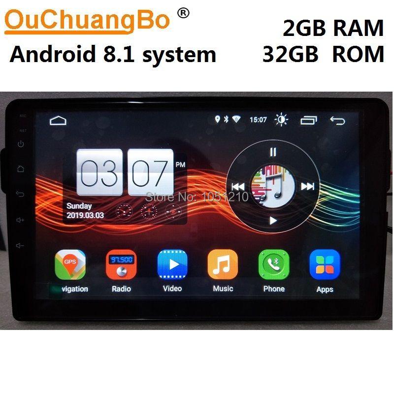 Ouchuangbo android 8.1 gps navigation multimedia player für GWM great wall Haval H2 unterstützung radio wifi 2GB + 32GB