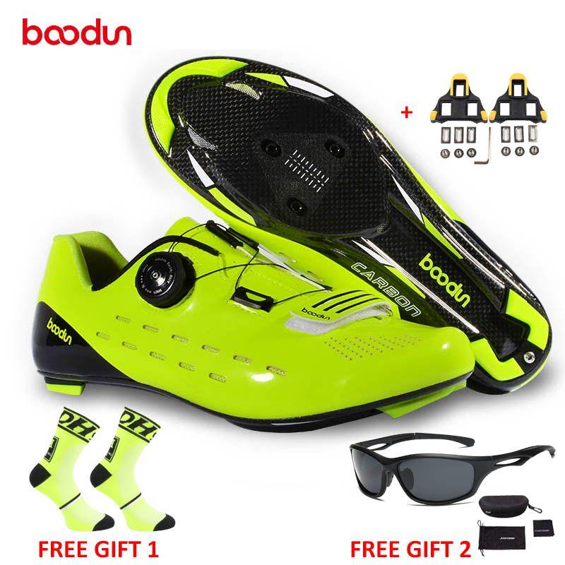 BOODUN Neue Stil Rennrad Schuhe Ultraleicht Carbon Rennrad Schuhe Tragen-beständig Nicht-slip Fahrrad Schuhe zapatos