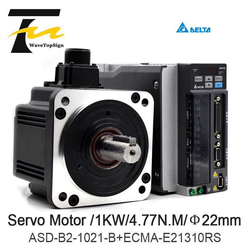 Delta Servo Motor 1KW B2 Serie ASD-B2-1021-B + ECMA-E21310RS + 3 M Draht 4.77N.M 5.6A Verwenden Für Automatisierten Industrie