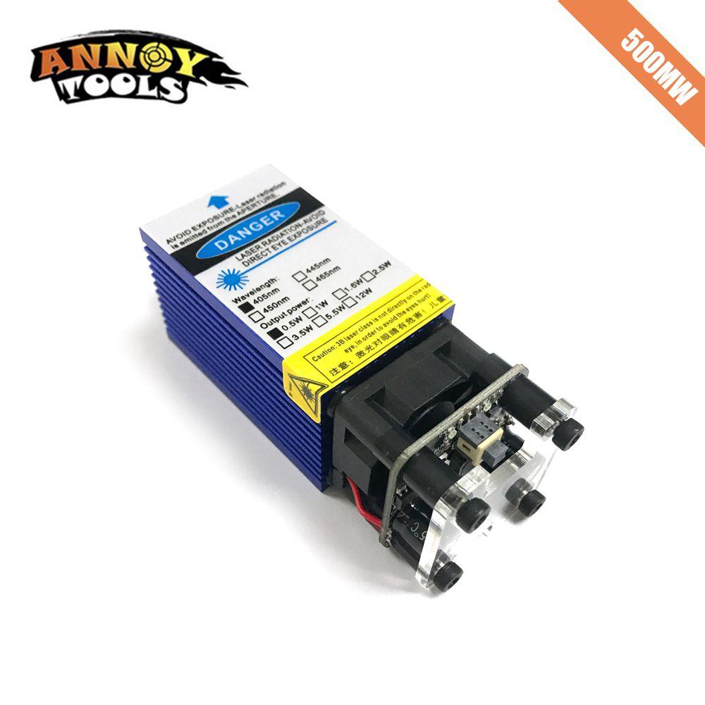 500 mW 405nm Fokussierbar Blau Laser Modul Laser Gravur Und Schneiden TTL PWM control 0,5 W Laser Kopf
