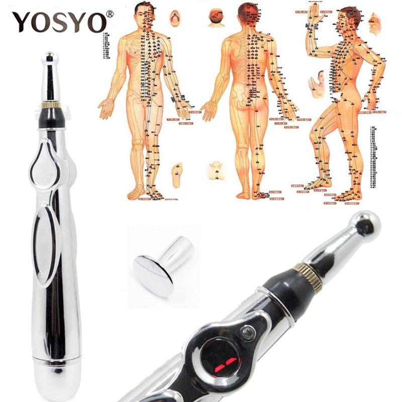 2018 nouveau stylo d'acupuncture électronique méridiens électriques thérapie Laser guérir stylo de Massage méridien énergie stylo soulagement de la douleur outils